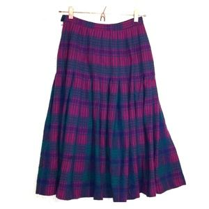 Vintage Pendleton | Pleated Midi Skirt